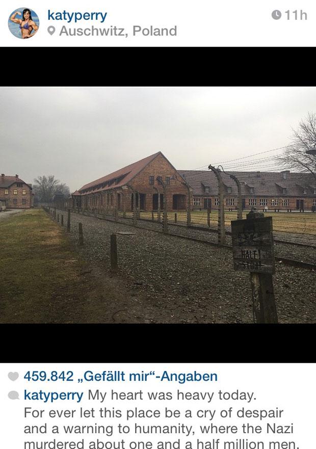 Katy Perry in Auschwitz vor Wien-Trip