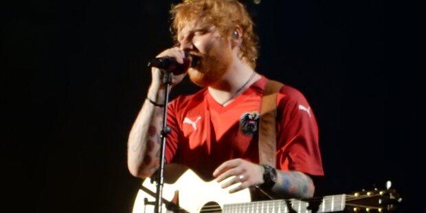 Sheeran spielte im Dress unserer ÖFB-Elf