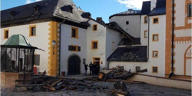 Erhebliche Schäden auf der Festung