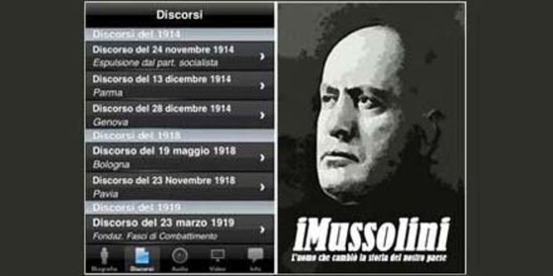iPhone App iMussolini wird gelöscht