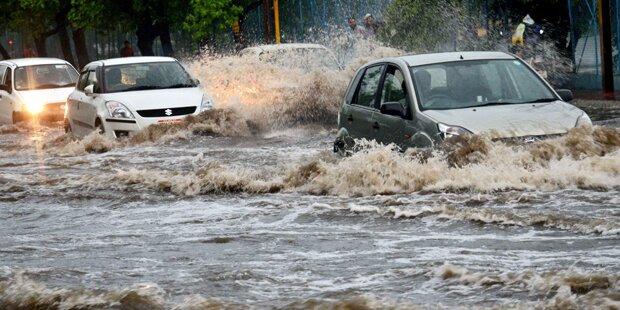 70 Tote bei heftigen Überflutungen in Indien
