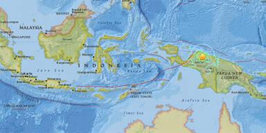 Starkes Erdbeben erschüttert Indonesien
