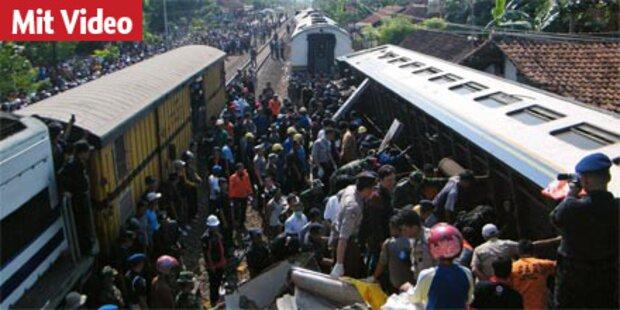 Indonesien: Dutzende Tote bei Zugunglück