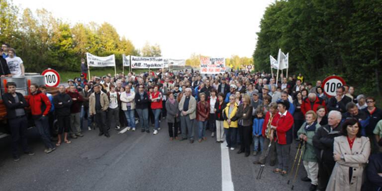 Lärmgegner blockierten Innkreisautobahn