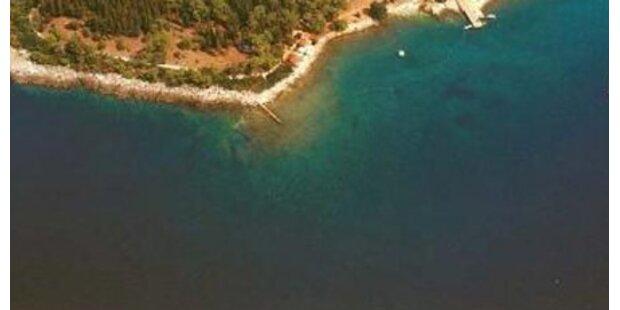 Notsignal-Rakete zündet kroat. Insel an