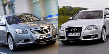 Opel Insignia & Audi A6 sind Mängelzwerge 2011