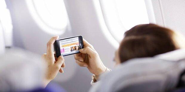Erlaubnis für Handy auf Flugreisen