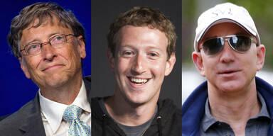 Das sind die reichsten Internet-Milliardäre