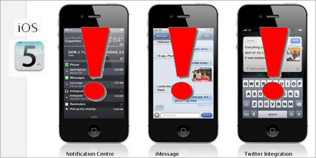 Update auf iOS 5 sorgt für Chaos