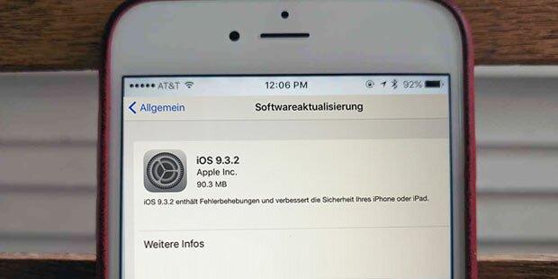 Peinlich: Apple zieht iOS 9.3.2 zurück