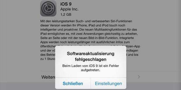 iOS 9-Update sorgt für Mega-Frust
