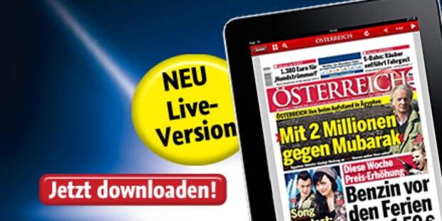 Neue iPad-App der Tageszeitung ÖSTERREICH