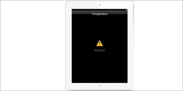 Apples neues iPad kann zu heiß werden