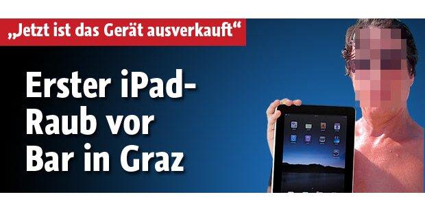 Erster iPad-Raub vor Bar in Graz