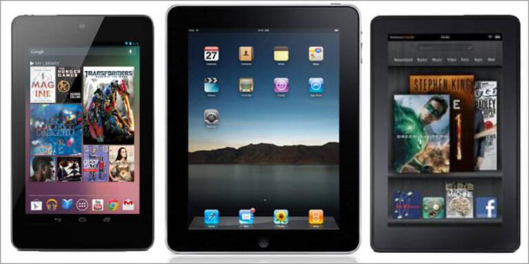 Nexus 7 gegen Kindle Fire und neues iPad