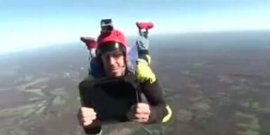 Ipads überleben Fall aus 400 Metern Höhe