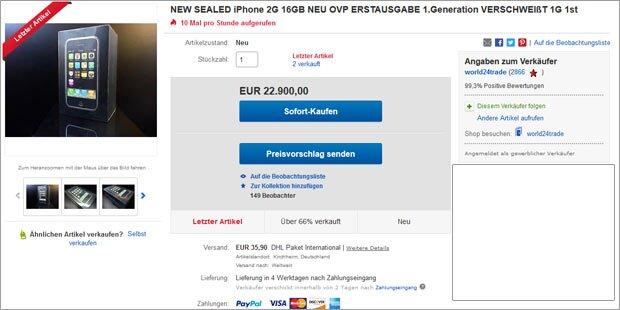 20.000 Euro für iPhone 2G bezahlt