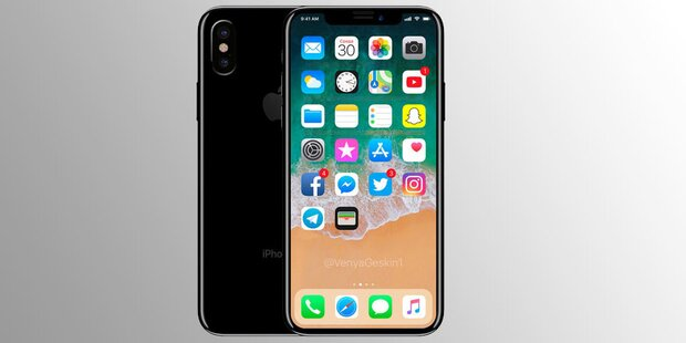 iphone 8 iphone x apple zeigt heute neues super smartphone. Black Bedroom Furniture Sets. Home Design Ideas