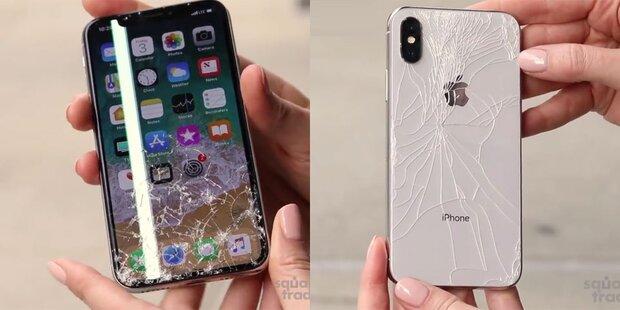 iPhone X ist zerbrechlichstes Smartphone