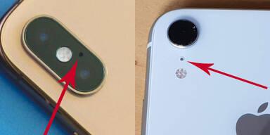 Dazu dient das Loch neben der iPhone-Kamera