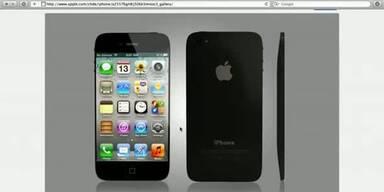 iPhone5-Webseite geleaked