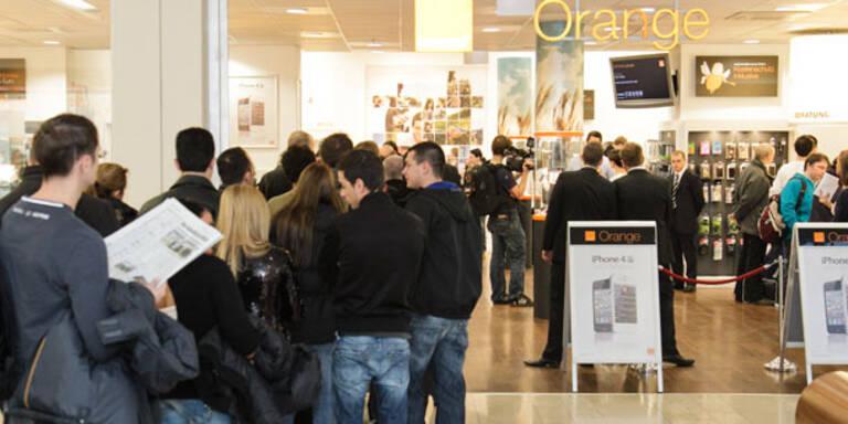 Großer Ansturm zum iPhone 4S-Verkaufsstart bei Orange