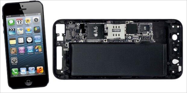 Das iPhone 5 kostet Apple 128 Euro