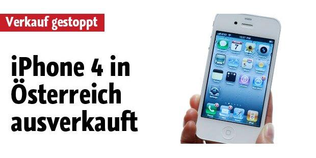 iPhone 4-Verkäufe in Österreich gestoppt