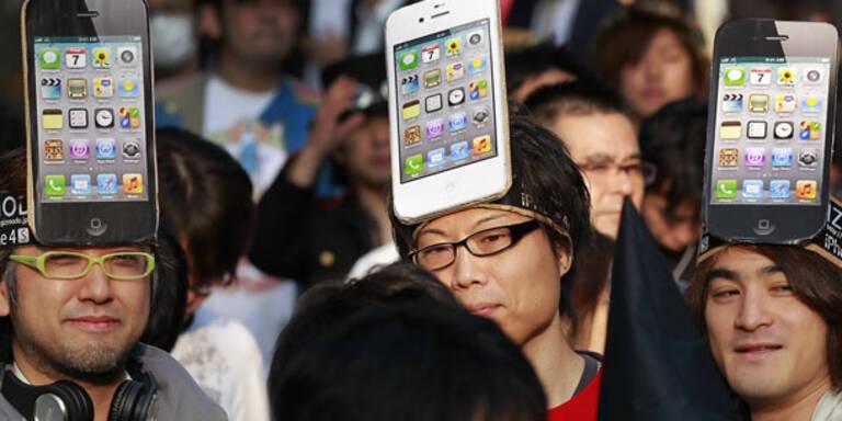 Für iPhone 4S-Fans hieß es Schlange stehen