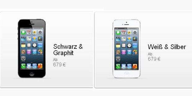 iPhone 5: Apple verrät die Preise