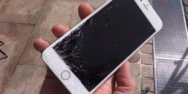 Die neuen  iPhone 6 im Crashtest