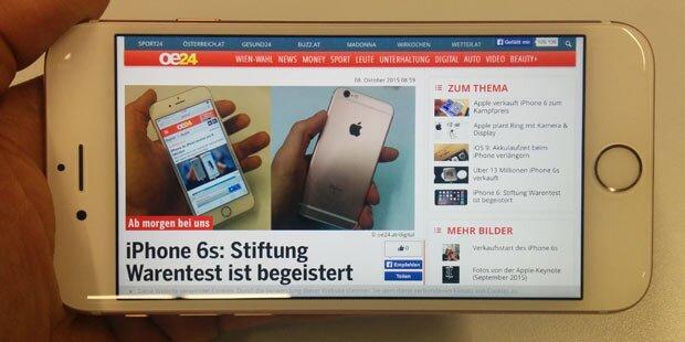 iPhone 6s: Stiftung Warentest ist begeistert