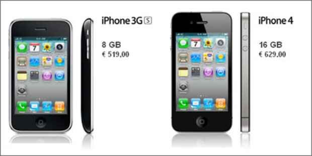 Apple verkauft freie iPhone 4 in Österreich