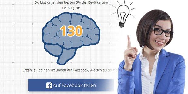 IQ-Test ist der Renner auf Facebook
