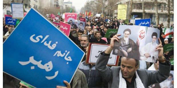 Regimefreundliche Demo im Iran