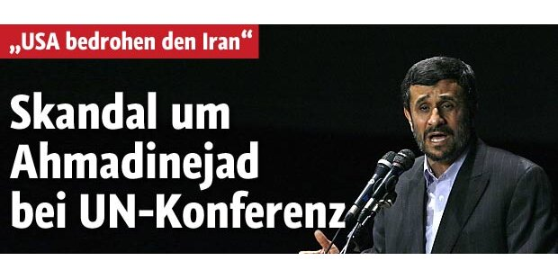 Ahmadinejad: Skandal bei UN-Atomkonferenz