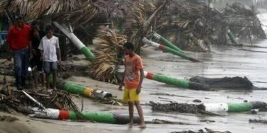 "Hurrikan ""Irene"" tobte mit 160 km/h"