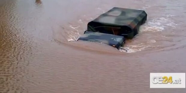 Hurrikane Irene: Militär-Konvoi säuft ab