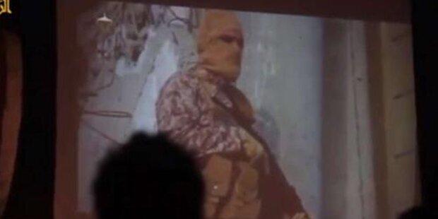 ISIS zeigt Geisel- Verbrennung auf Leinwand