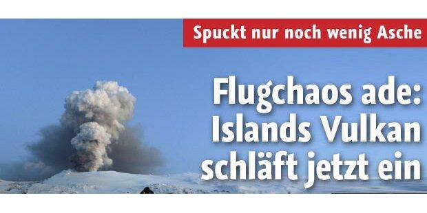 Islands Vulkan schläft jetzt ein
