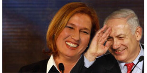 Kadima-Partei siegt knapp vor Likud-Block