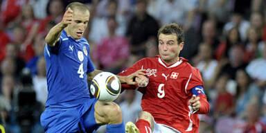 Italien pokert sich zu 1:1 gegen Schweiz