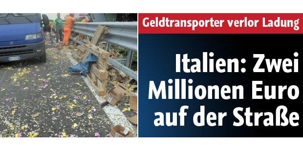 Geldtransporter verliert 2 Mio in Münzen