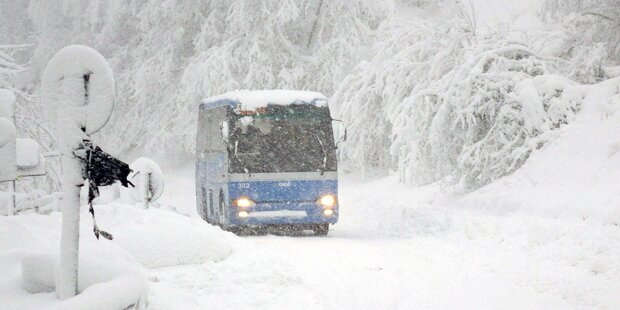 Italien und Kroatien versinken im Schnee-Chaos