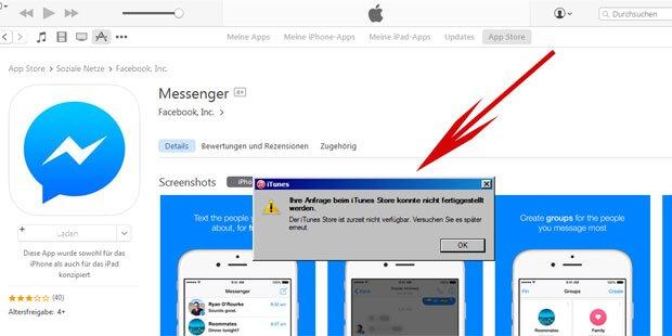 Total-Ausfall bei Apples iTunes