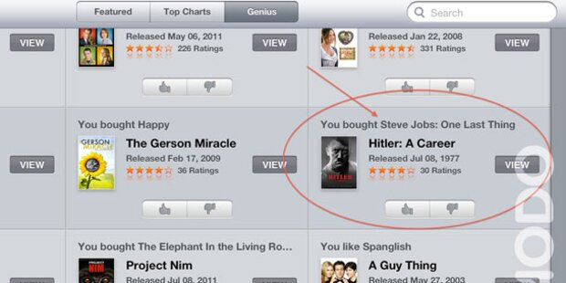 Hitler-Buch als Tipp für Steve Jobs-Doku-Käufer