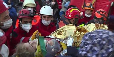 Mädchen (3) nach 65 Stunden aus Trümmern gerettet