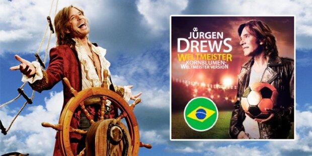 Jürgen Drews präsentiert WM-Hit
