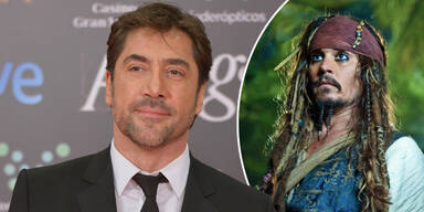 Javier Bardem und Johnny Depp als Jack Sparrow in Fluch der Karibik