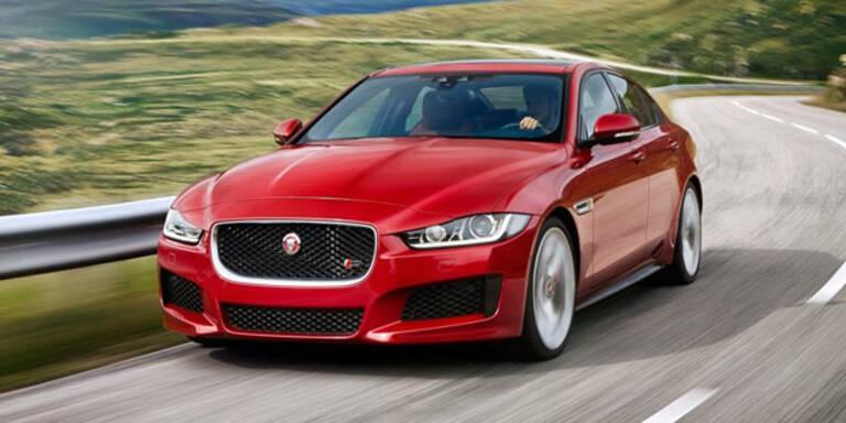 Jaguar XE jagt Audi A4 und BMW 3er